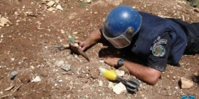 الشرطة تتلف جسمين مشبوهين في جنين وطوباس